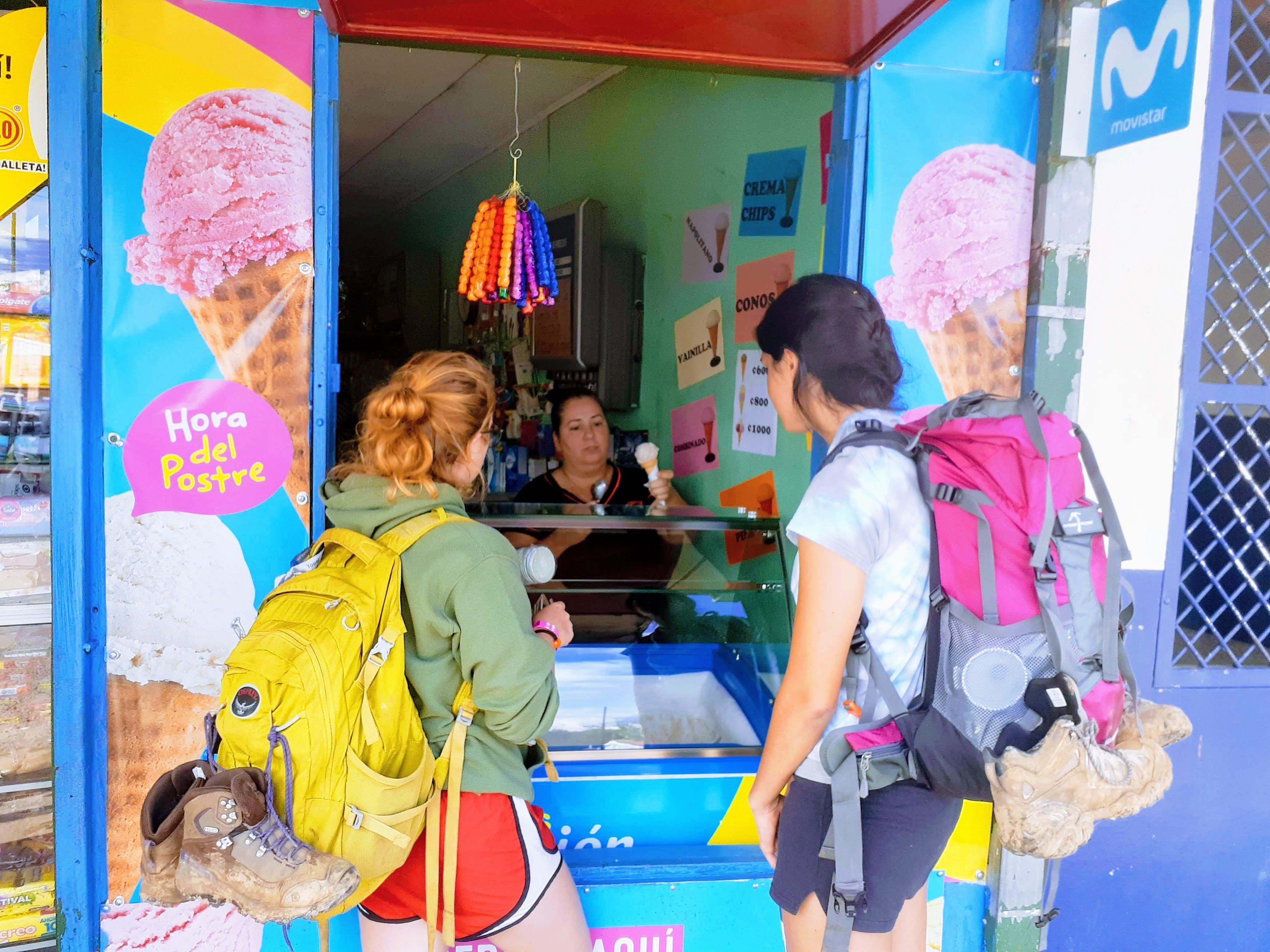 FALL19_Semester in San Jose - Universidad Veritas_Shoshanna Weiner_Clark University_ice cream after chirripo
