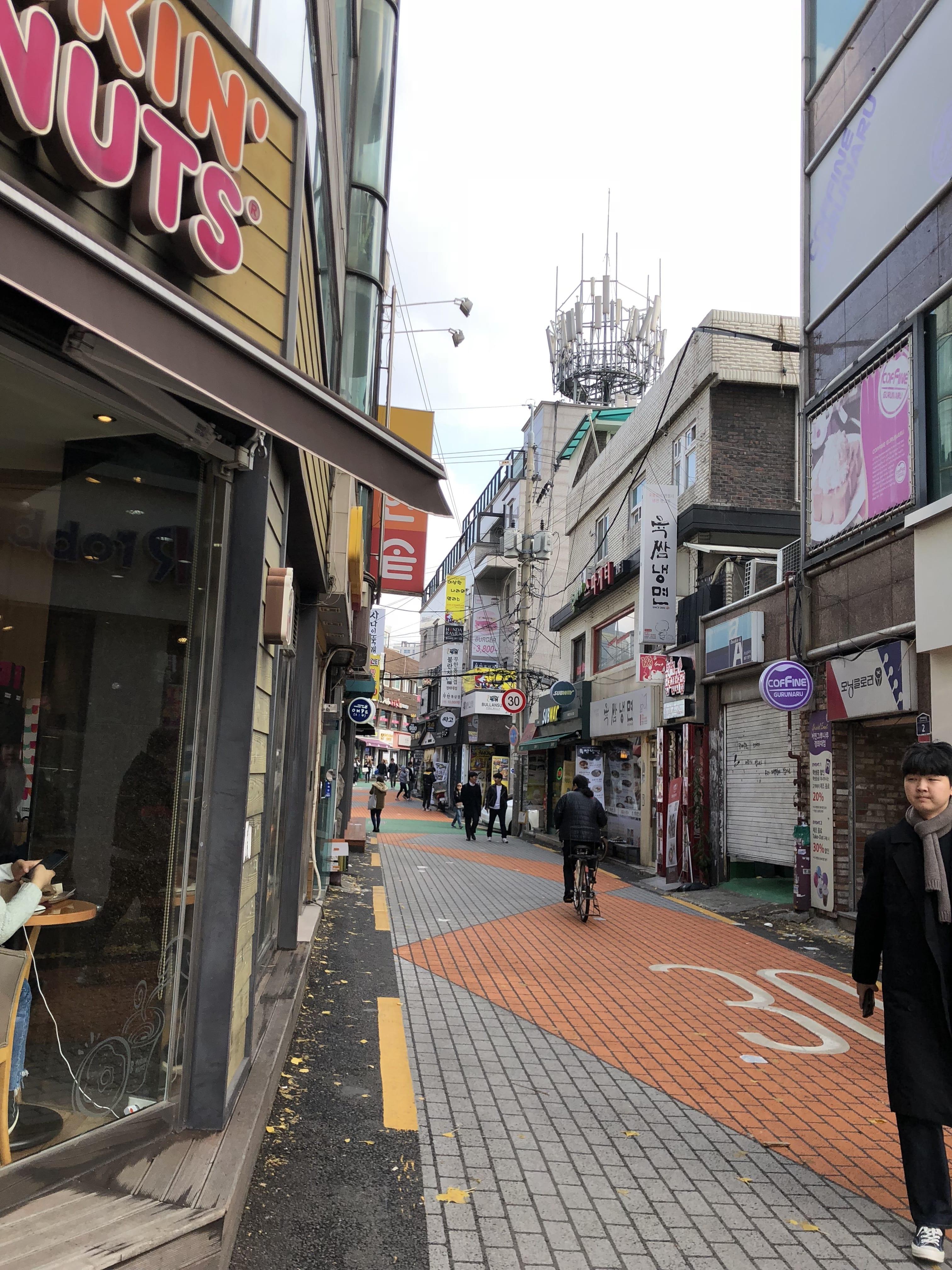 Tokyo narrow street - dunkin donuts